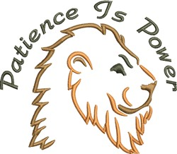 Patience Is Power embroidery design