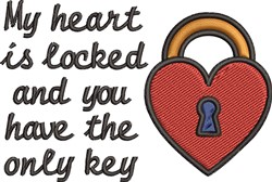 Locked Heart embroidery design