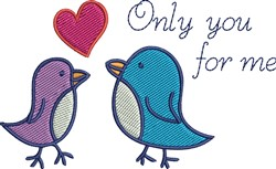 Only You embroidery design
