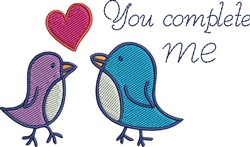 You Complete Me embroidery design