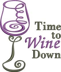 Wine Down embroidery design