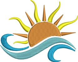 Sun On Water embroidery design