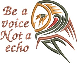 Be A Voice embroidery design