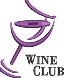 Wine Club embroidery design