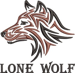 Lone Wolf embroidery design