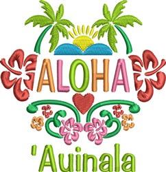 Aloha Auinala embroidery design