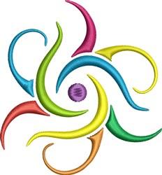 Color Swirls embroidery design