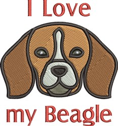 Love My Beagle embroidery design