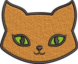 Cat Face embroidery design