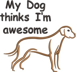 Awesome Dog embroidery design