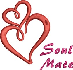 Soul Mate embroidery design