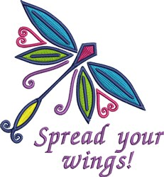 Spead Your Wings embroidery design