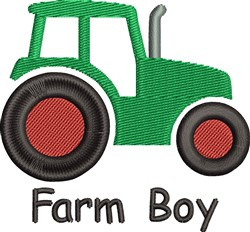 Farm Boy embroidery design