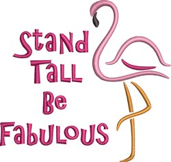 Stand Tall embroidery design