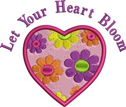 Let Heart Bloom embroidery design