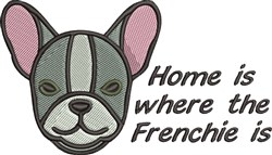 Frenchie Home embroidery design