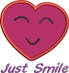 Just Smile embroidery design