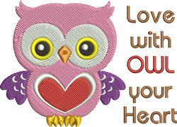 Owl Your Heart embroidery design
