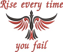 Rise Every Time embroidery design