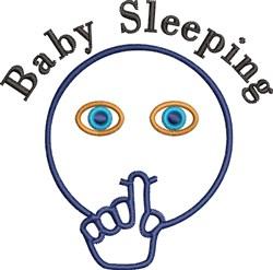 Baby Sleeping embroidery design