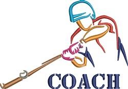 Coach Baseball Batter embroidery design