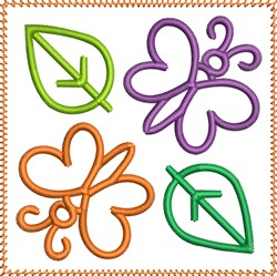 Butterflies Square embroidery design