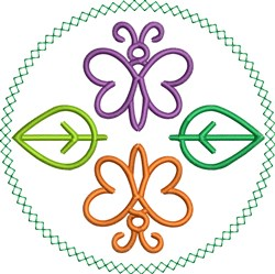 Butterflies Circle embroidery design