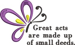 Great Acts Butterfly embroidery design
