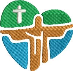 Christ Heart embroidery design