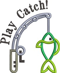 Play Catch embroidery design
