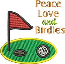 Peace Love And BIrdies embroidery design