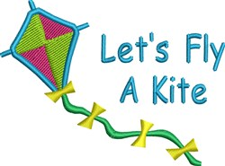 Lets Fly A Kite embroidery design