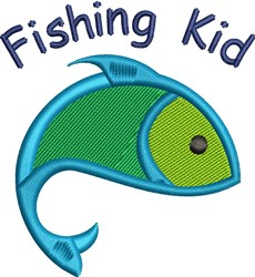 Fishing Kid embroidery design
