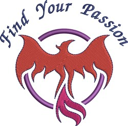 Phoenix Bird Find Your Passion embroidery design