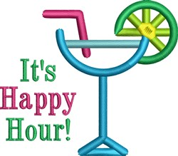 Its Happy Hour embroidery design