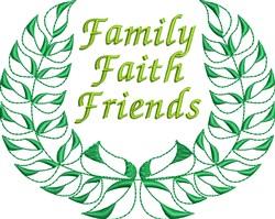 Family Faith Friends Wreath Decoration embroidery design