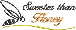 Sweeter Than Honey embroidery design