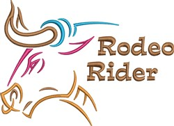 Rodeo Rider embroidery design