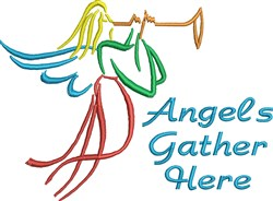Angels Gather Here embroidery design