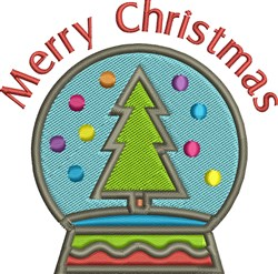 Merry Christmas Globe embroidery design