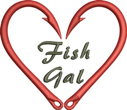Fish Gal embroidery design