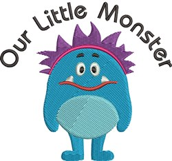 Our Little Monster embroidery design