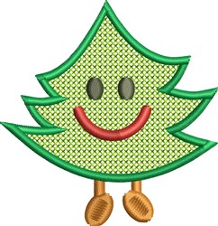 Happy Tree embroidery design
