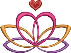 Lotus Heart embroidery design