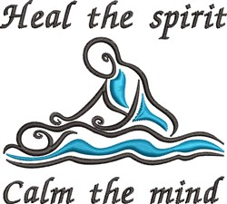 Heal The Spirit embroidery design