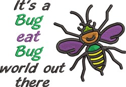 Bug Eat Bug embroidery design
