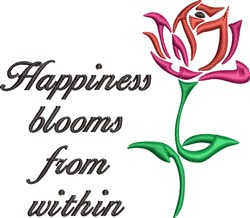 Happiness Blooms embroidery design