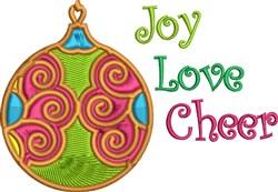 Joy Love Cheer embroidery design