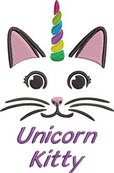 Unicorn Kitty embroidery design