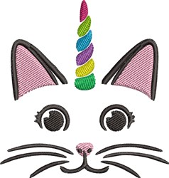 Unicorn Cat embroidery design